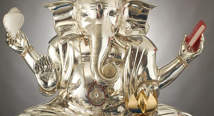 Ganesha in Silver