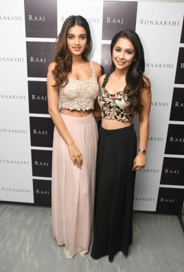 Actor Nidhhi Agerwal With Sonaakshi Raaj