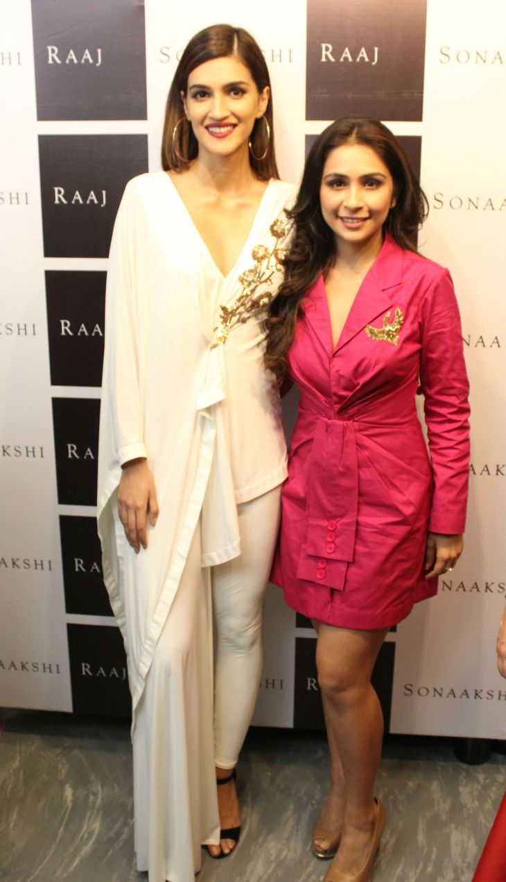 Bollywood Actor Kriti Sanon with Designer Sonakshi Raj