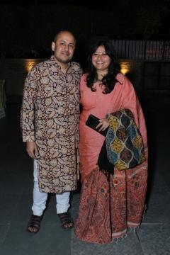 L-R Ashish Chakraborty with Pratima Sen