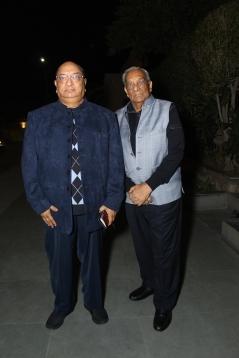 L-R Komal Modi with M L Garg