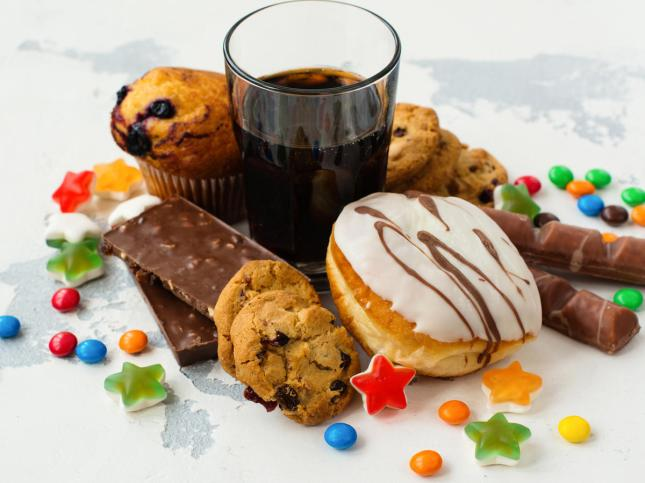Items containing high amount of sugar
