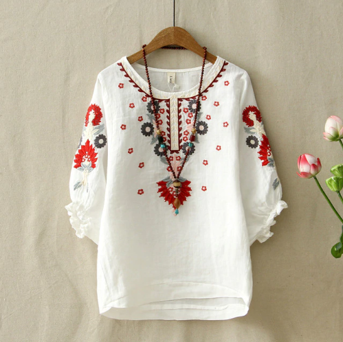 Floral Embroidered Blouses