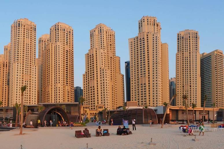 Dubai beach at Jumeirah Beach Residence